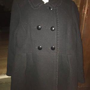 Authentic kate spade plus women's pea coat
